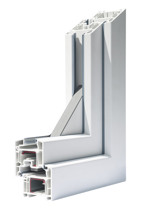 Profile systems for windows and doors manufacturing - Stock Image